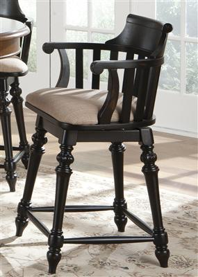 swivel stool, upholstered seat