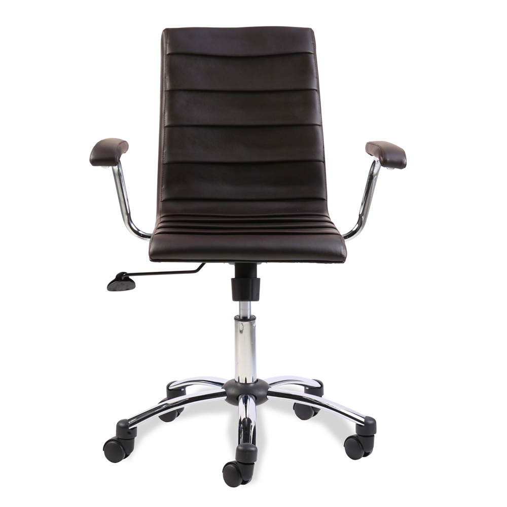 White Rolling Chair Pleated Desk Chair Brandon House