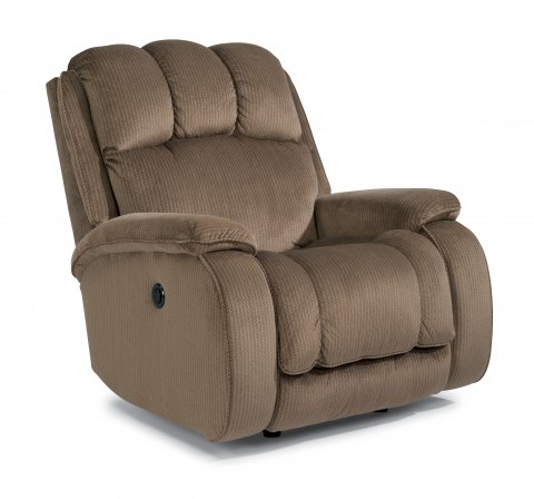huron flexsteel power rocker recliner