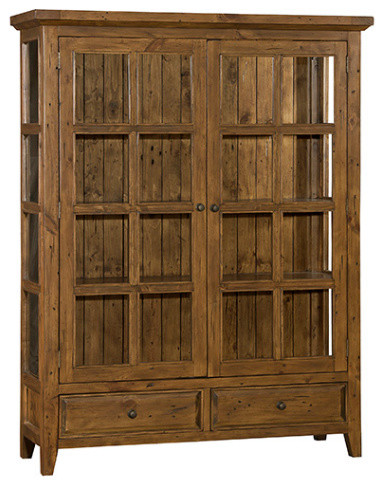 tuscan retreat display cabinet, curio cabinet