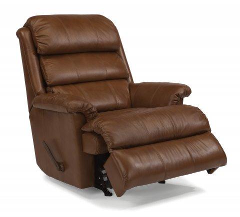 yukon flexsteel leather rocker recliner