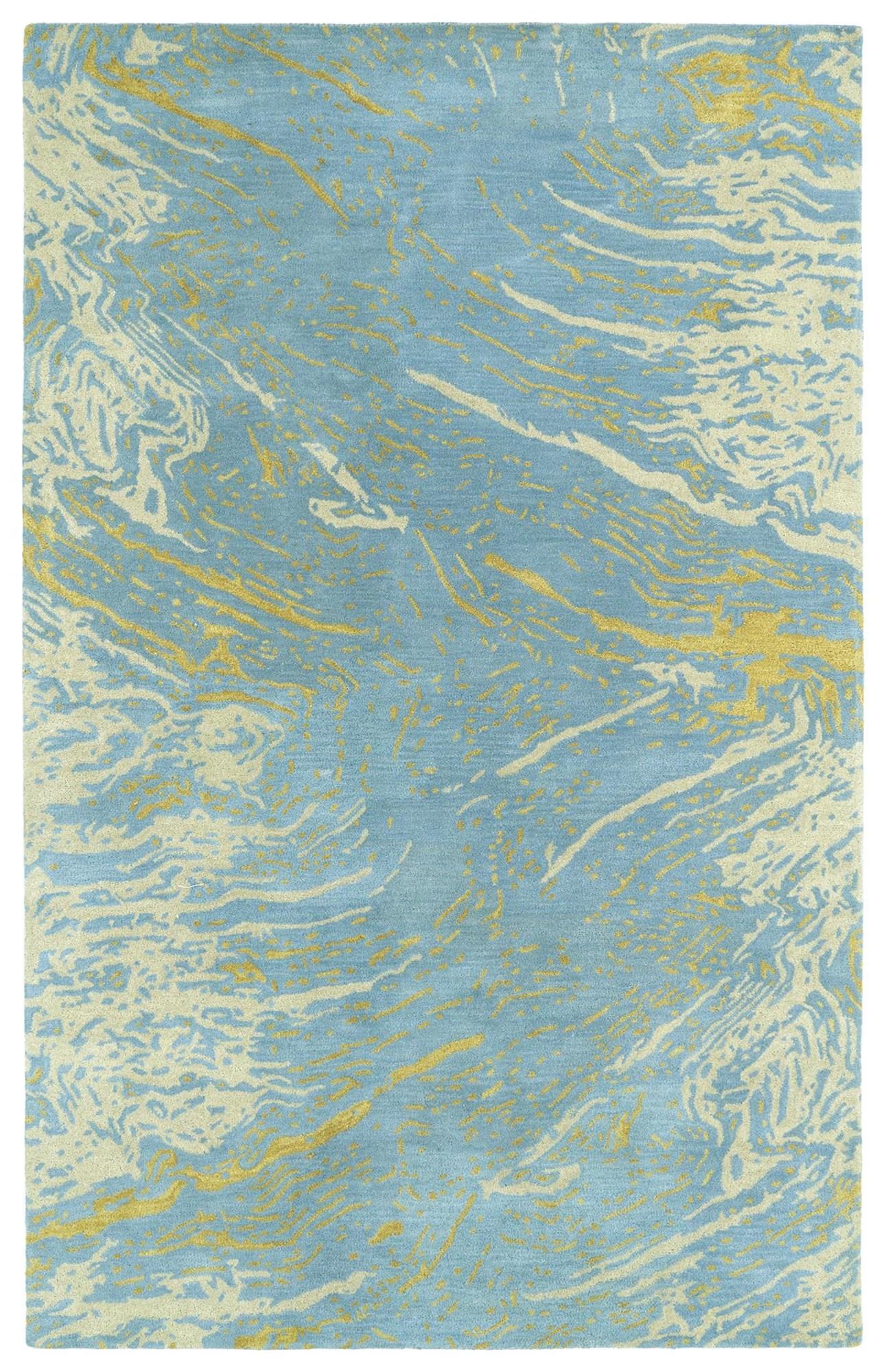 Brushstrokes Blue Rug Brandon House