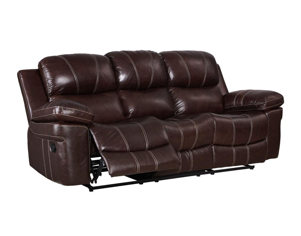 Legato Reclining Leather Sofa