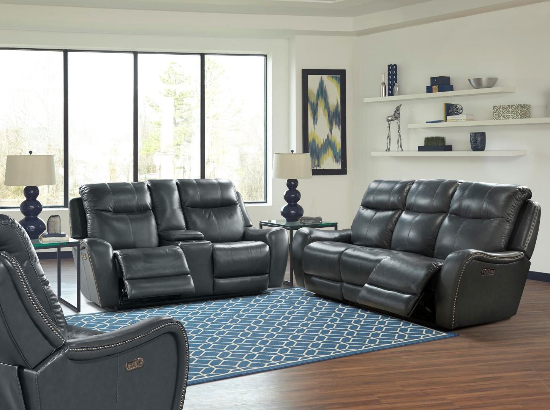 Amazing Mammoth Leather Power Sofa