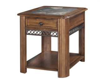 end table, magnussen, stone top