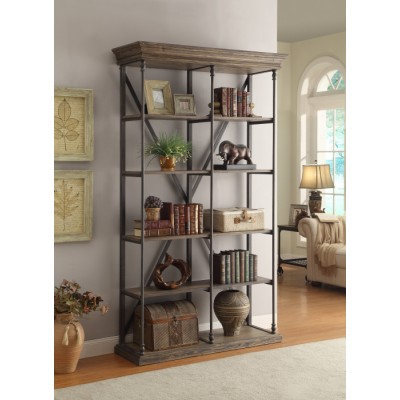 bookshelf, industrial, open