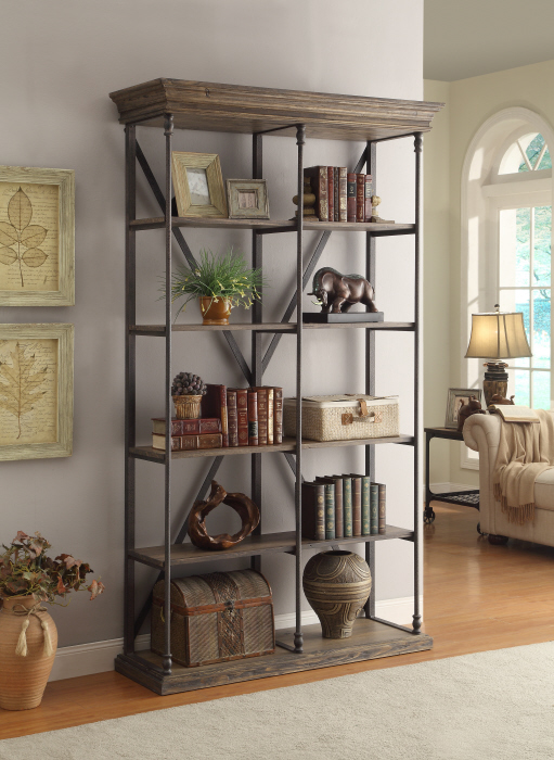 bookshelf, industrial, open