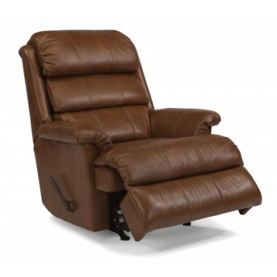 yukon flexsteel leather rocker recliner