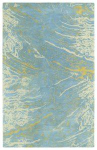 Brushstrokes Blue Rug