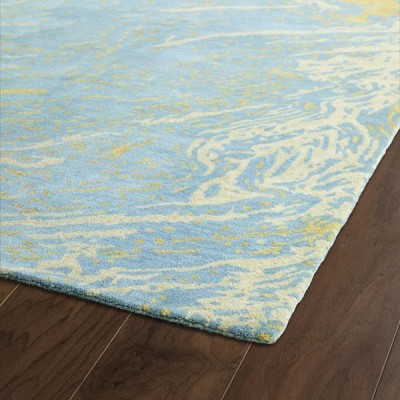 Brushstrokes Blue Rug