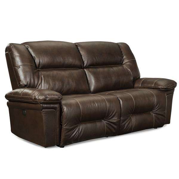 Parker Leather Power Sofa With Headrest Brandon House